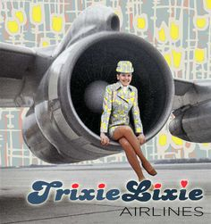 The new Hemingway fabrics feature heavily in this TrixieLixie Airlines advert…