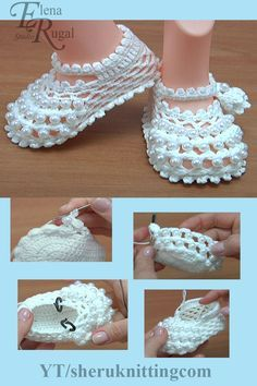 My shoe measures – centimeters. For this shoe I used over 60 beads. For creating such booties you need g of yarn - cotton, polyacryl, in Hook 2 mm or mm. Round beads - d = cm. Booties Crochet, Crochet Baby Shoes, Crochet Baby Clothes, Crochet Slippers, Crochet Baby Dress Pattern, Baby Shoes Pattern, Crochet Cord, Cute Baby Shoes, Crochet Kids Hats