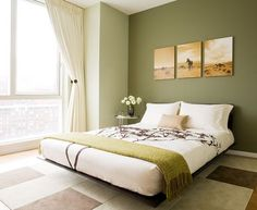 Love the earthy green in this with your yellow walls