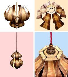 Moving Veneer Contraption lamp by CharlotteKayDesigns  Follow her here: -  https://www.instagram.com/charlottekaydesign/