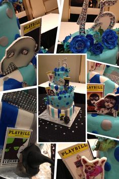 A Broadway themed Topsy Turvy Quinceanera birthday cake....enjoy!!!