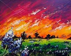 'Bluebonnet Sunset'