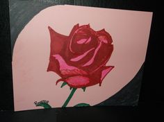 Drawing: Red Rose by Rodster- Marker pen on card stock
