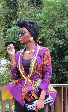 I would make jacket white and the ruffle/flounce part African fabric for a summer look