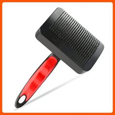 PLAY X STORE Professional Slicker Brush for Dogs & Cats Self-Cleaning for Long and Short Hair Pets - For our pretty pets (*Amazon Partner-Link)