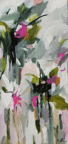 abstract painting abstract floral abstract flowers by pamelam