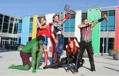 Team Canada=The Avengers. Alex Gough, luger, is Black Widow.