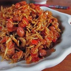 Resep Teri Kacang Bumbu Balado Garing dan Enak | Resep Kue Kering-ku :)