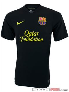 The Nike Barcelona Away Jersey 2011-2012 is black and looks amazing...$79.99