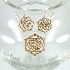 Laser Cut Wooden Jewelry  Celtic Star  Natural by woodeyestudios, $32.00