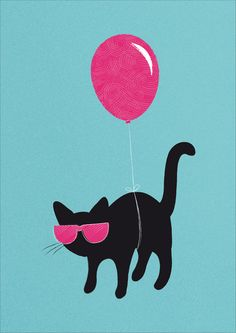 Cool Cat travels like this Art Print by Giulia Cucija | Society6