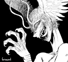 Manga Art, Anime Manga, Anime Art, Cry Baby, Devilman Crybaby, Estilo Anime, Creepy Art, Dark Anime, Dark Fantasy Art