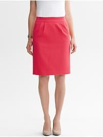 Textured cotton pencil skirt
