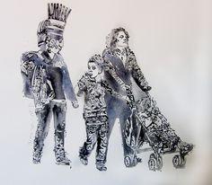 """""""Walking"""" de Andrea Valencia @ VirtualGallery.com"""