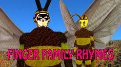 bee | 3d rhymes songs for children | finger family song for children