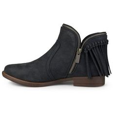 Women's Journee Collection Fringed Riding Booties - Black 10, Durable