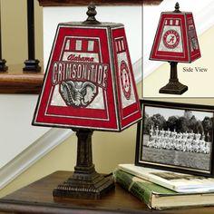 Alabama Crimson Tide Art Glass Table Lamp