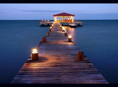 """""""Roberts Grove Dock, Placencia, Belize"""" - If I was to have a beach reception..."""