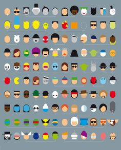 Not Only One Movie by Leon Art Poster How many of these famed film and TV characters can you recognise? Nostalgia, Minimal Movie Posters, Film Posters, Minimalist Poster, Movie Characters, Cool Items, New Art, Illustrations Posters, Nerdy