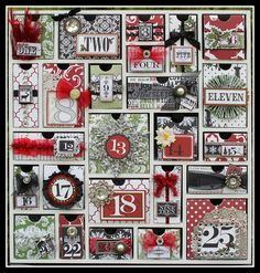@Sesil Cratin - Her advent Calendar using TC Christmas Home and the Silhouette Advent Calendar - love this!!