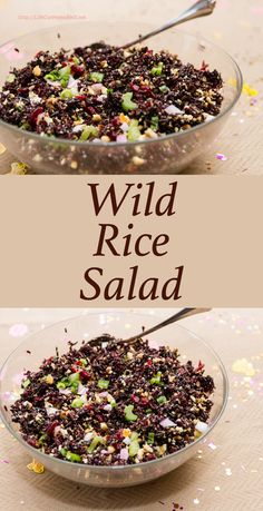 Wild Rice Salad with dried cranberries, pecans, cashews, and lots of veggies, is a great summer side dish! Pin now to make later.