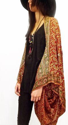 Soie perlée Kimono blouson / Shrug / dissimuler par Bibiluxe