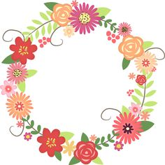 floral wreath. too cute!haven't thought of what to use this for yet.