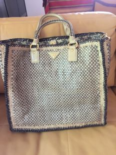9046435aa11075 Prada - Prada Madras tote Tote bag | pocketbook | Bags, Tote Bag ...