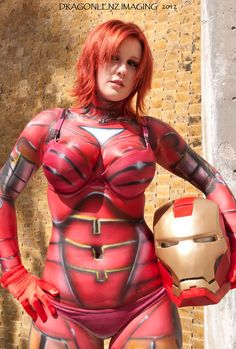 Photography: DragonlenZ Images Body Paint: Papi Miranda Model: Me My Female Ironman body paint shoot was a HUGE success! <3 I had so much fun! <3