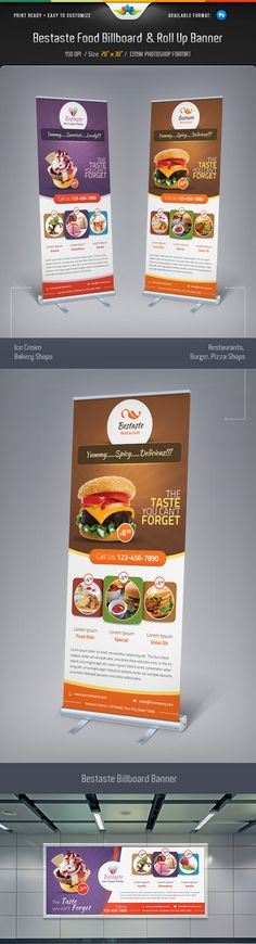 Bestaste Food Billboard and Roll Up Banner by Saptarang