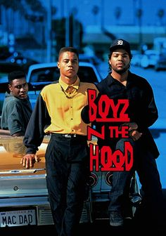 and Ice Cube in Boyz n the Hood Hip Hop Movies, 90s Movies, Arte Do Hip Hop, Hip Hop Art, Hood Wallpapers, Tupac Pictures, Wall Pictures, Looks Hip Hop, Estilo Hip Hop