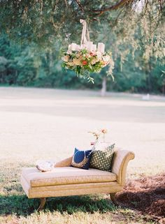 Fainting couch from Propcellar Vintage rentals  Romantic fall Mississippi wedding   Photo by Cassidy Carson Photography   Read more - http://www.100layercake.com/blog/?p=85074