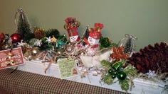 My Handmade Candle Box with some Handmade Christmas Items