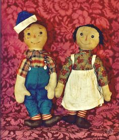 Early Volland Raggedy Ann and Andy