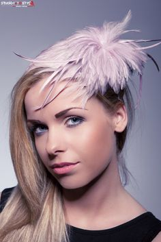 Fru Fru- powder pink appareal made by stained rooster feathers