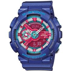 G-Shock Women's Analog-Digital Blue Resin Strap Watch 49x46mm... ($130) ❤ liked on Polyvore featuring jewelry, watches, no color, digital wristwatch, analog watches, analog digital watches, g shock wrist watch and g shock watches