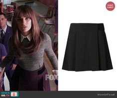 Rachel's black skirt on Glee. Outfit Details: http://wornontv.net/43443/ #Glee