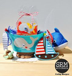 Here's a set of fun projects for a party using SRM's new patterned vinyl in a chevron pattern along with our clear containers, clear stickers and twine! Patterned Vinyl, Clear Stickers, Fun Projects, Twine, Turning, Whale, Chevron, Nautical, Favors