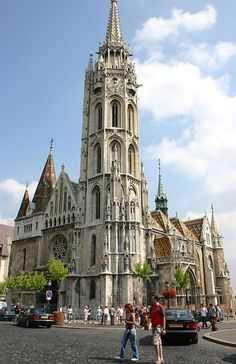 Matthias Church,Budapest, Hungary - Most of the exterior of Matthias Church was added around 1896 in a Gothic style. The interior is decorated with works by two outstanding 19th-century Hungarian painters, Károly Lotz and Bertalan Székely.
