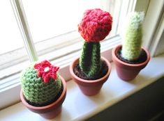 Lazymuse Productions crocheted cacti | Young House Love