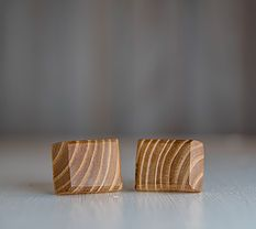Tiger Tail Wood Cuff Links www.ashesandkings.com