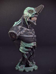 Evangelion style robot bust by Ömer Zeren, via Behance