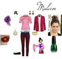 Outfit Mulán, encuentra todos los estilos de los personajes de Disney en... http://www.1001consejos.com/outfits-al-estilo-disney/ #Disney #moda #1001consejos