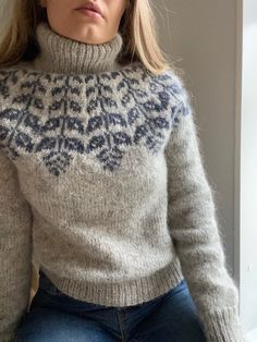 Fair Isle Knitting Patterns, Sweater Knitting Patterns, Gros Pull Mohair, Wooly Jumper, Icelandic Sweaters, Knitting Magazine, Street Style Trends, Sweater Design, Sweater Fashion