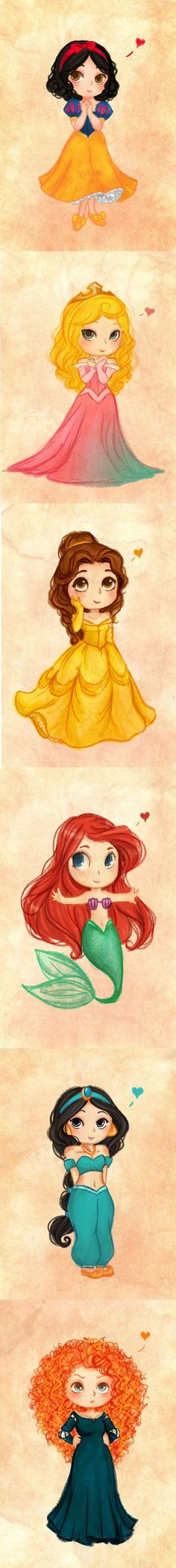 Who is it? [Lookit. These princesses are so precious!]