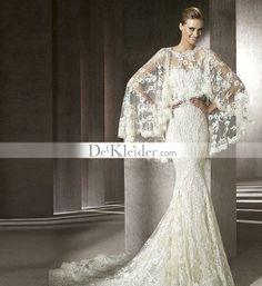 Awesome Trompete / Meerjungfrau bodenlangen Spitze Brautkleider 2012 Neue Stil