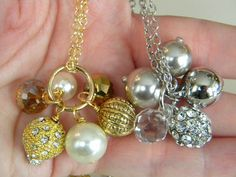 jc diy beaded charm necklace. 10mm jump ring with headpins and beads