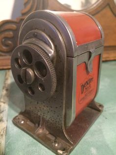 Pencil Sharpener, Wall Or Table Mount, Works Great, Vintage by PaintedLadyAntiques on Etsy