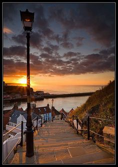 Steps to the Sea in Whitby England