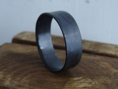 FREE SHIPPING  black minimalist men's ring  Simple by St8it4men